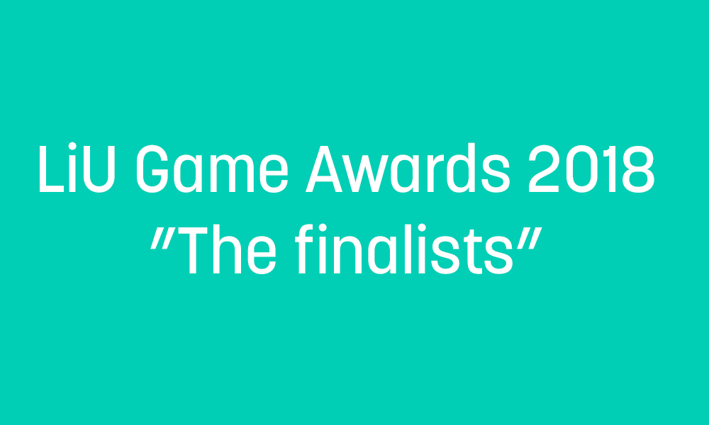 LiU Game Award 2018 finalists