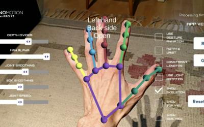 Sommarjobb skapade realistisk simulering av en handske i Augmented Reality