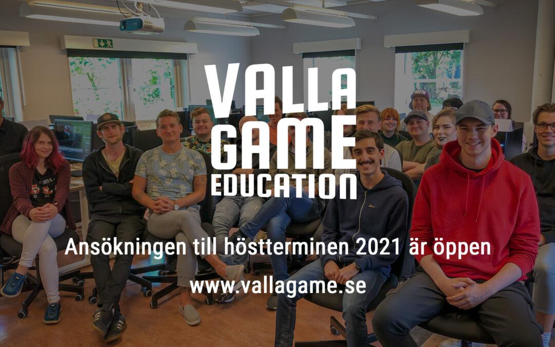 Ansökningen till Valla Game Education 2021 har öppnat