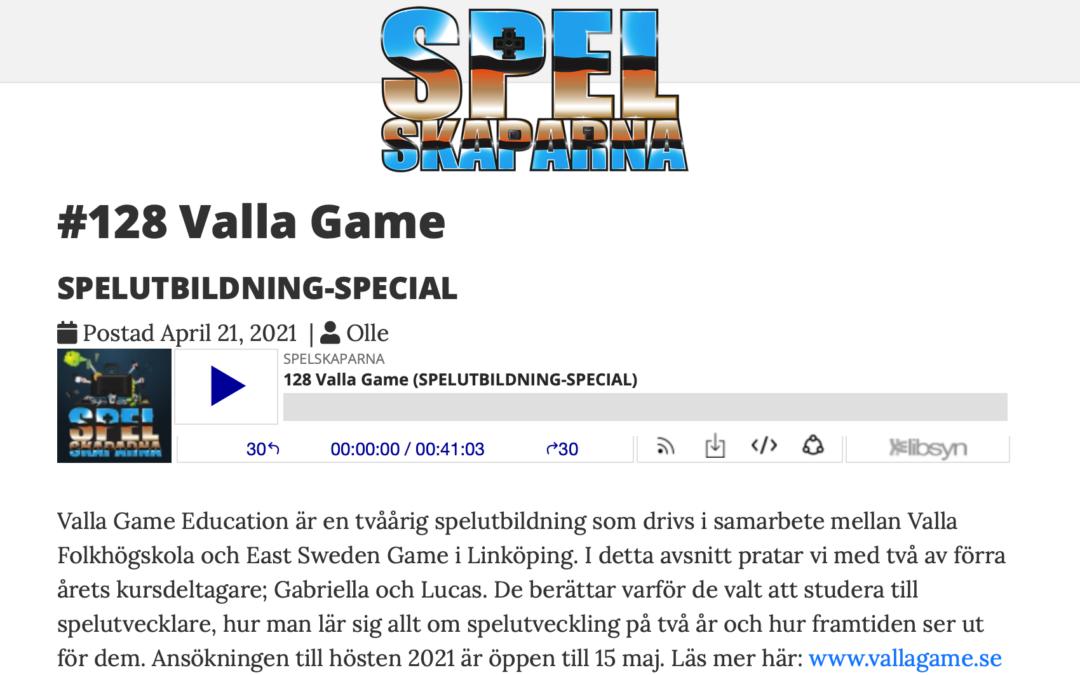 Utbildning-special i podden Spelskaparna med Valla Game